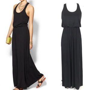 Lush Black Racerback Maxi Dress